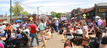 O festival anual quadrado dos lagostins de Overton em Memphis Foto de Stock