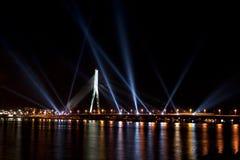 O festival claro Staro Riga (Riga de irradiação) Imagens de Stock Royalty Free