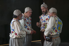 O festival da abundância comemorou em outubro no Bankside fora do globo do ` s de Shakespeare na cidade de Londres, Inglaterra imagem de stock