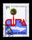 11o festival da juventude do mundo, Havana, serie, cerca de 1978 Imagem de Stock Royalty Free