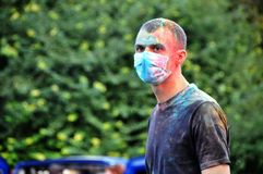 O festival das cores Holi Fotos de Stock