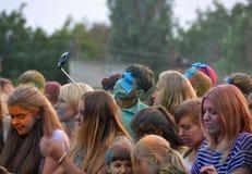 O festival das cores Holi Fotografia de Stock