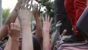 O festival das cores, povos joga pinturas filme