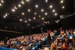 55.o festival de cine internacional de Salónica en el cine de Olympion Fotos de archivo libres de regalías