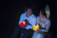 O festival de Hoi An Full Moon Lantern Fotos de Stock Royalty Free