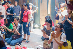 O festival de nove deuses do imperador em Ampang Imagens de Stock