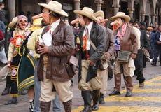 O festival de Paucartambo em Cusco, Peru imagens de stock