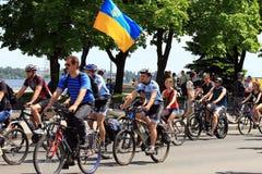 O festival do ciclismo em Dnepropetrovsk Imagem de Stock Royalty Free