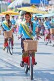 30o festival do guarda-chuva de Bosang do aniversário na província de Chiangmai de Tailândia Imagem de Stock Royalty Free