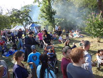 O festival 2013 medieval no parque 24 de Tryon do forte Foto de Stock