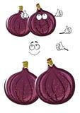 O figo comum dos desenhos animados frescos frutifica caráter Foto de Stock Royalty Free