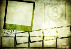 O filme retro baseou o fundo fotos de stock