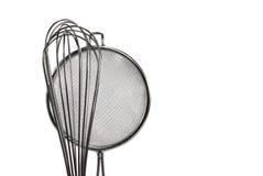 O filtro da cozinha e whisk Imagem de Stock Royalty Free