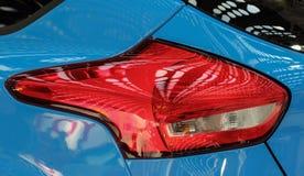 O fim acima da luz da parada da parte traseira do vermelho Foto de Stock
