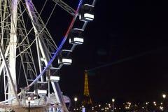 O fim acima da vista dos ferris roda dentro Paris foto de stock royalty free
