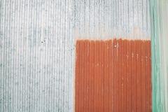 O fim acima de oxidado galvaniza o ferro Imagens de Stock Royalty Free