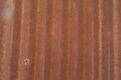 O fim acima de oxidado galvaniza o ferro Imagens de Stock