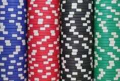 O casino lasca o fundo Fotografia de Stock