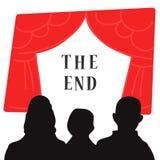 O fim da mostra ilustração do vetor