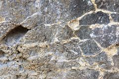 O fim detalhado acima dos tiros da textura das montanhas do cal surge em Alemanha do norte imagem de stock royalty free