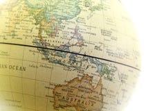 O fim do globo acima, Ásia perto Fotos de Stock Royalty Free