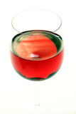 O fim do vinho vermelho isolou-se acima Imagens de Stock Royalty Free