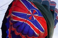 O fim do voo Ballooning em Nova Zelândia fotografia de stock royalty free
