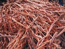 O fio de cobre reciclou fios que da cor o lixo como o fundo de recicla a indústria Imagem de Stock Royalty Free