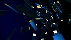 O flash abstrato do Usb conduz na obscuridade - azul ilustração stock