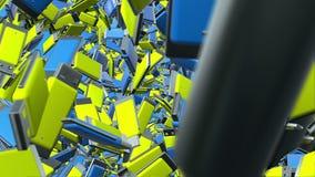 O flash abstrato do Usb conduz no azul e no amarelo ilustração do vetor
