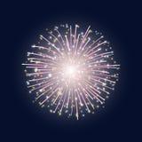 O flash de fogos-de-artifício coloridos Imagens de Stock Royalty Free