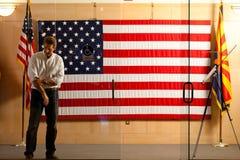 O floco de Jeff do candidato do representante e do Senado de AZ prepara-se foto de stock