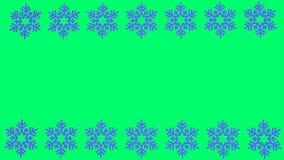 O floco de neve azul gerencie com espaço vazio para índices ilustração royalty free