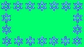 O floco de neve azul gerencie com espaço vazio para índices ilustração do vetor
