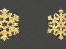 O floco de neve de brilho do ouro do Natal cobre o objeto Eps 10 ilustração do vetor