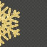 O floco de neve de brilho do ouro do Natal cobre o objeto Eps 10 ilustração royalty free