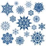 O floco de neve dá forma à coleção Foto de Stock Royalty Free