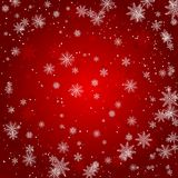 O floco de neve do Natal com luz da estrela da noite e a queda da neve abstraem a ilustração eps10 do vetor do bakcground ilustração stock