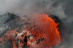 Fluxo de lava foto de stock
