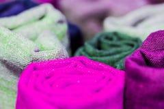 O foco macio coloriu brilhantemente o teste padrão natural das texturas fotografia de stock royalty free