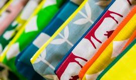 O foco macio coloriu brilhantemente o teste padrão natural das texturas imagens de stock