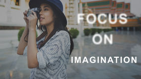 O foco no alvo do concentrado do alvo determina o conceito Fotografia de Stock
