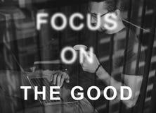 O foco no alvo do concentrado do alvo determina o conceito Fotografia de Stock Royalty Free