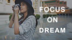O foco no alvo do concentrado do alvo determina o conceito Fotos de Stock Royalty Free
