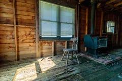O fogão de madeira velho Foto de Stock