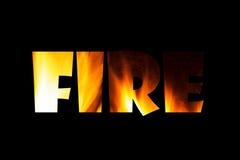 O fogo Foto de Stock
