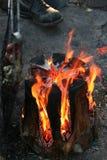 O fogo Fotografia de Stock