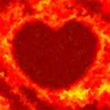 O fogo abstrato do Valentim do grunge do amor colore o fundo do coração Fotos de Stock
