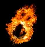 O fogo arde a cara Foto de Stock Royalty Free