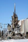 O fogo das consequências destrói o moinho fotografia de stock royalty free